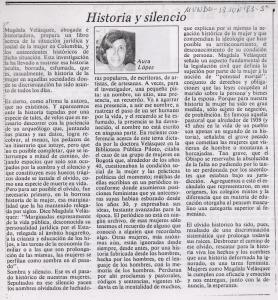 Historia y silencio